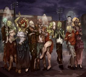 thriller Zombies by pigarzo