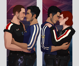 [ME] Shepard and Kaidan shared the battlefield - by hes-per-ides