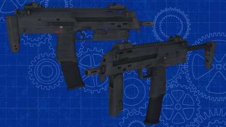 [MMD] Heckler and Koch MP7 for DL by AbyssLeo
