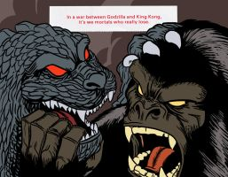 Thirteen's Fortunes: Godzilla and King Kong by Lord-Of-The-Guns