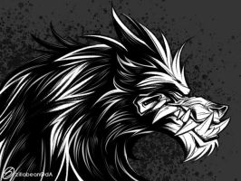Black werewolf by zillabean