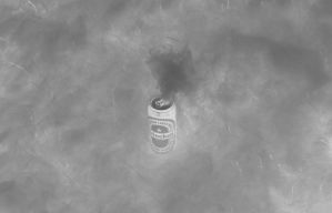 Smokin' beer, inverted, bw by Datasmurf