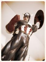 Captain America statue 2 by force2reckon