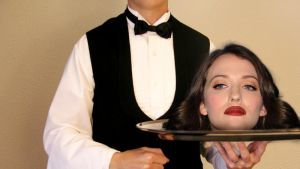 Kat Dennings' Head Waiting to be Served by SpawnVII