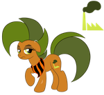 OC Ref: Factory Smog the Earth Pony by SilverRomance