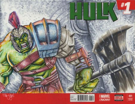 Hulk Ragnorak Sketch Cover by ChrisMcJunkin