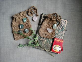 Lenormand and Tarot  Bag by WitchLadyArtisan