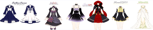 Custom Outfit batch 3 by Black-Quose