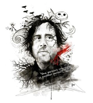 Tim Burton Portrait by Prestegui