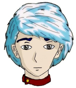 Blue Haired Guy by Lady-Cauthon