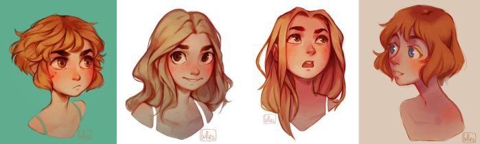 Portraits by lulles