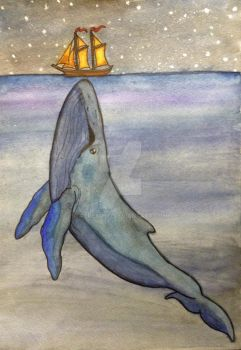 Whale Watercolor by atreyu917