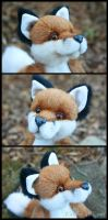 Fox Plush - facial details by deeed