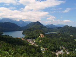 Mountains, two lakes and one castle by Paul774