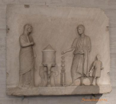 Glyptothek munich 8: Relief with an offering scene by Sonnenkatze346