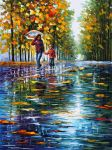 Stroll In Autumn Park by Leonid Afremov