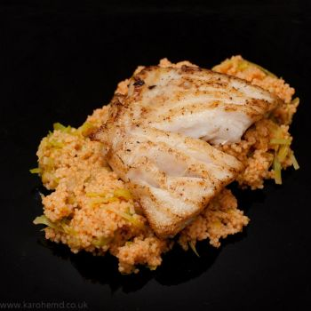 Pollock fillet, spicy couscous by karohemd