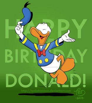 Happy Birthday Donald! by TedJohansson