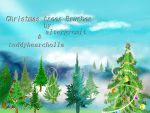 Christmas tree brushes by teddybearcholla