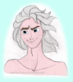 Elsa Genderbent - King of Ice and Snow by inspired-flower
