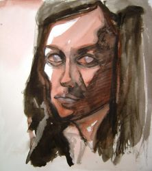 self portrait drawing 3 by hinstarsion