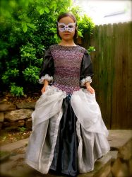Little Princess in Shades of Grey and Purple by ndilettante