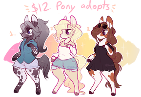 $12 pony adopts (closed) by Keybladefire