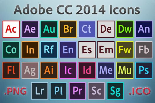 Adobe CC 2014 Icons by ruffsnap