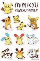 Pokemon: Mimi-chu Family (Print and Stickers)