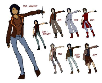 Chase's outfit chart by SachiAmi