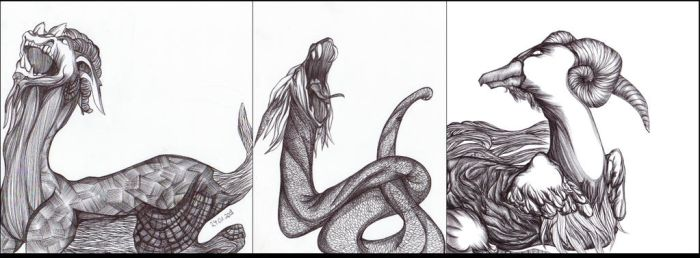 Mythical Creatures I by Nakilicious