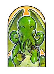 Happy Cthulhu by ursulav