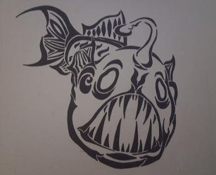 Angler Fish tribal by khajiit4444