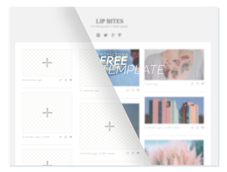 FREE template [ .PSD ] by tropicsong