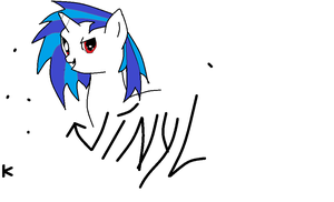 Vinyl (ms paint first try) by sparity-bronieboy444