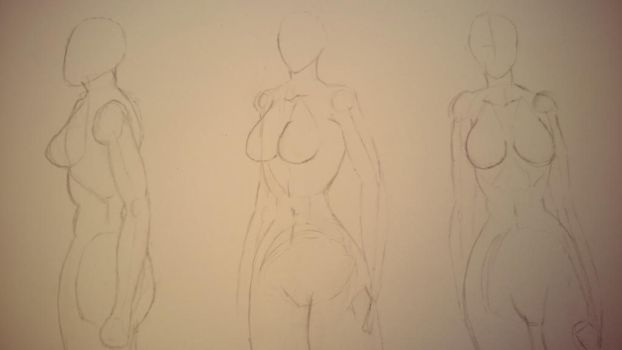 Practising- Female Figure  by Train18
