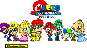 Mario Scenarios - The Main Cast by RylanLego