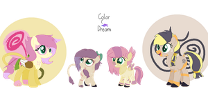Zap Feather Family by RippleTrash