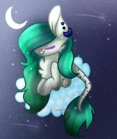 Art-Trade with Pixie-blue-pixel by Lacey36