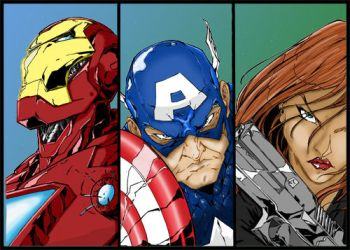 Avengers Part 1 Colours. by Highlander0423