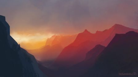 Mountains by mousez