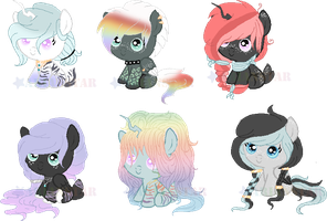 C: Foals For BlackTempestBrony by Arianstar
