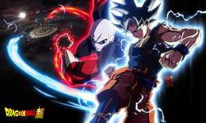 Goku Ultra Instinct VS Jiren by limandao