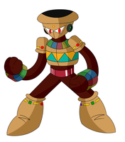 Megaman Robot Master: Clay Man by SnowmanEX711