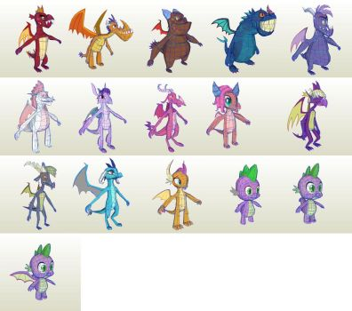 MLP Gameloft Dragones by PapercraftKing