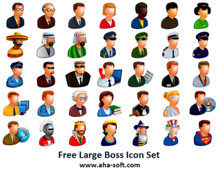 Free Large Boss Icon Set by aha-soft-icons