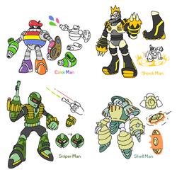 Robot master concepts 3 by JWNutz