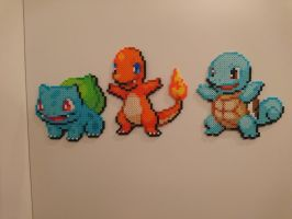 Pokemon #43-45 - Bulbasaur, Charmander, Squirtle by MagicPearls