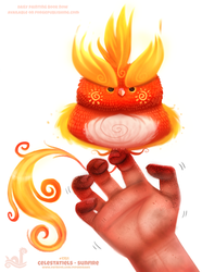 Daily Paint 1751#  Celestatiels - Sunfire by Cryptid-Creations