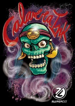 Calavera Inka color by bucanero11